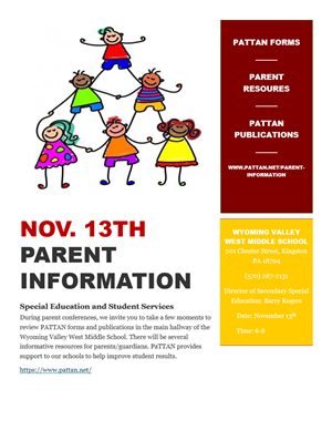 Special Education and Student Services parent information Conferences