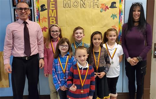 Dana Elementary Center Recognizes November Students of the Month