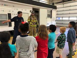 Mrs. Park's Second grade class from Third Ave. Elementary visits the Kingston Fire house