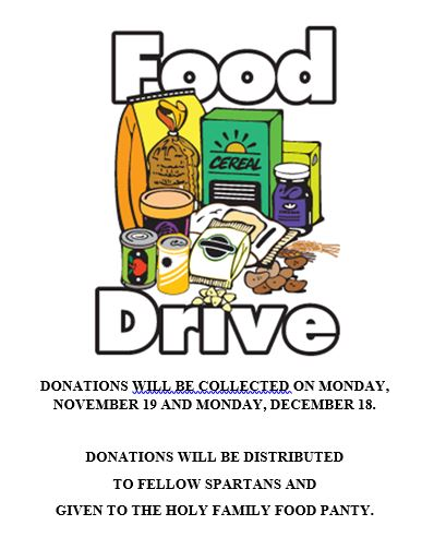 Student Council Holiday Food Drive
