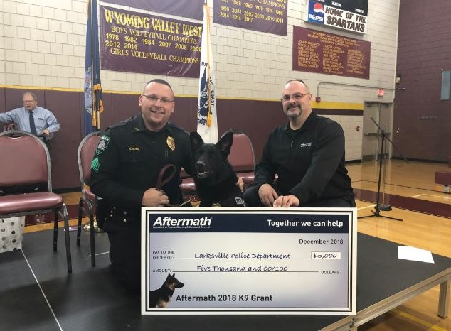 K9 Officer Una Awarded Grant